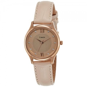 Timex Analog Rose Gold Dial Watch-TW00ZR270E