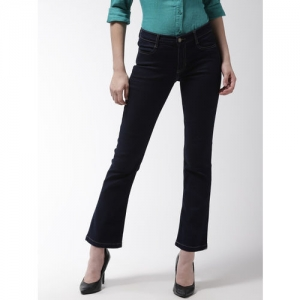 Marks & Spencer Women Navy Blue Slim Fit Bootcut Mid-Rise Clean Look Jeans
