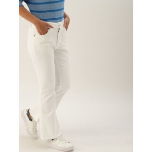 5029c8619cb United Colors of Benetton Women White Bootcut Mid-Rise Clean Look  Stretchable Jeans