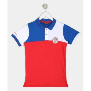 Provogue Boys Pure Multicolor Cotton Polo T Shirt (Pack of 1)