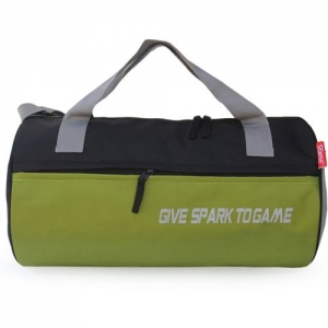 sfane Sparky Neon Sports Duffel Gym Bag(Neon, Black)