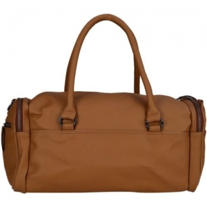 Old Tree (Expandable) Plain Tan Travel Duffel Bag(Beige)