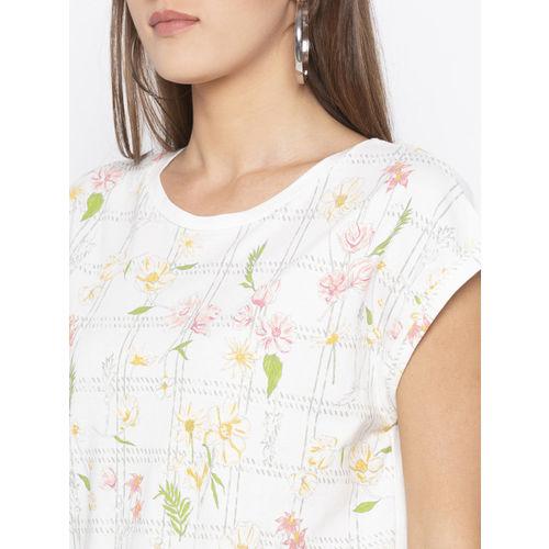 Globus Women Beige Printed Round Neck T-shirt