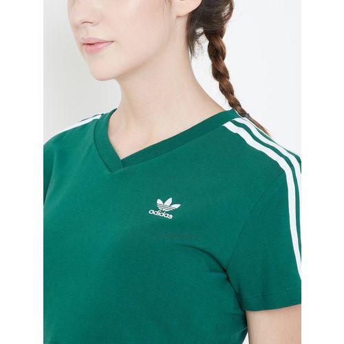 ADIDAS Originals Women Green Cropped T-shirt
