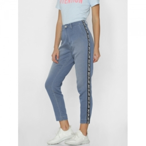 ONLY Blue Regular Fit Mid-Rise Clean Look Stretchable Jeans