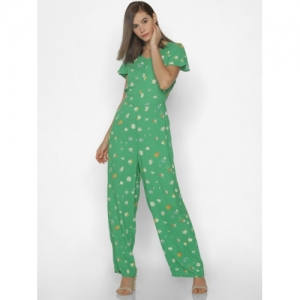 ONLY Green Printed Basic Jumpsuite