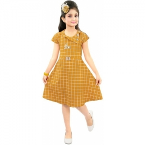 78614c89be1 Style Junction Girls Mustard Cotton Midi/Knee Length Party Dress. ₹349  ₹1199 Flipkart