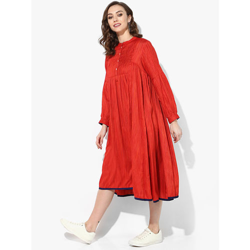 Sangria Women Red Solid A-Line Dress