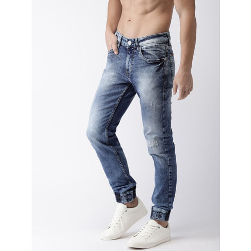 Flying Machine Men Blue Mid-Rise Clean Look Stretchable jogger Jeans