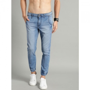 Roadster Men Blue Slim Fit Mid-Rise Clean Look Stretchable Jogger Jeans