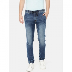 Pepe Jeans Men Blue Jogger Mid-Rise Clean Look Stretchable Jeans