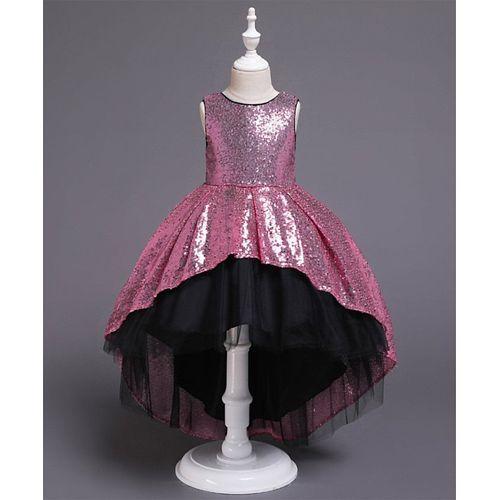 Awabox Pink Sequined Sleeveless Dress