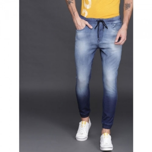 WROGN Blue Denim Jogger Clean Look Stretchable Jeans