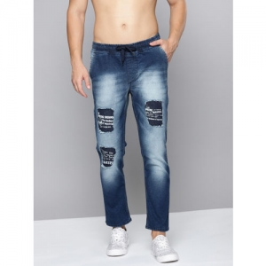 Kook N Keech Marvel Blue Denim Slim Fit Ripped Stretchable Jeans