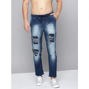 Kook N Keech Marvel Blue Denim Slim Fit Ripped Stretchable Jeans