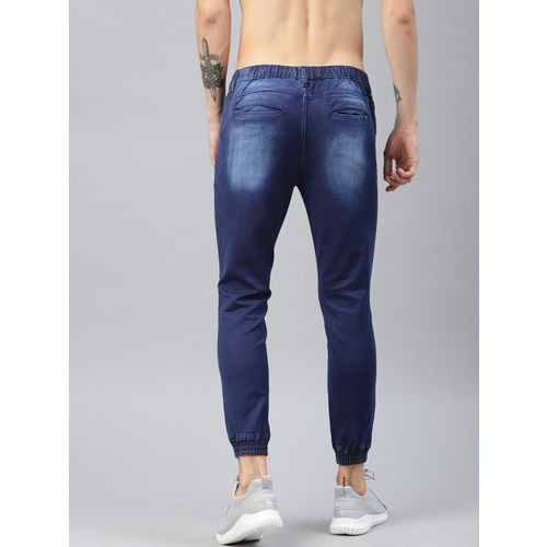 HRX by Hrithik Roshan Men Blue Slim Fit Mid-Rise Clean Look Stretchable Jogger Jeans