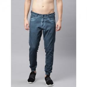 HRX by Hrithik Roshan Blue Denim Stretchable Jogger Jeans