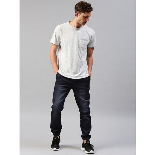 HRX by Hrithik Roshan Men Blue Jogger Fit Mid-Rise Clean Look Stretchable Jeans