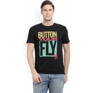 Levi's Printed Men Round Neck Black T-Shirt
