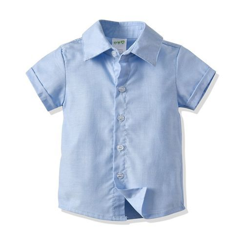 Awabox Half Sleeve Shirt With Suspender Shorts & Bow Tie - Blue