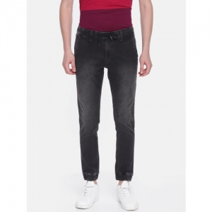 Pepe Jeans Men Black Mathhew Jogger Fit Mid-Rise Clean Look Stretchable Jeans
