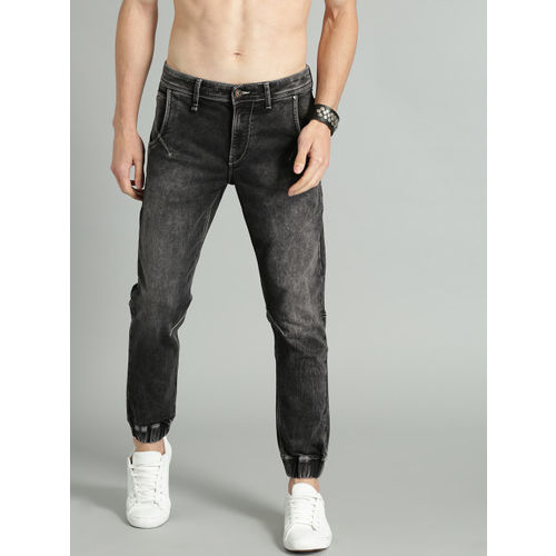 Roadster Men Black Jogger Mid-Rise Clean Look Stretchable Jogger Jeans