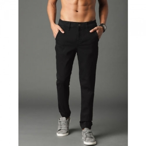 Roadster Black Denim Slim Fit Clean Look Stretchable Jeans