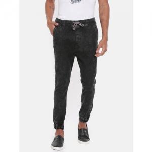 Blue Saint Men Black Jogger Mid-Rise Clean Look Stretchable Jeans