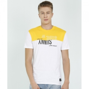 Levi's White Cotton Printed Men Round Neck T-Shirt