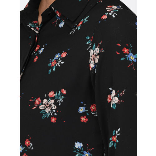 Rigo Women Black Regular Fit Printed Casual Shirt