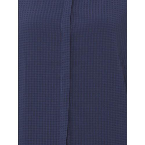 Van Heusen Woman Women Blue Regular Fit Checked Casual Shirt