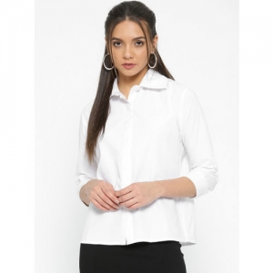 StalkBuyLove Women White Regular Fit Solid Casual Shirt