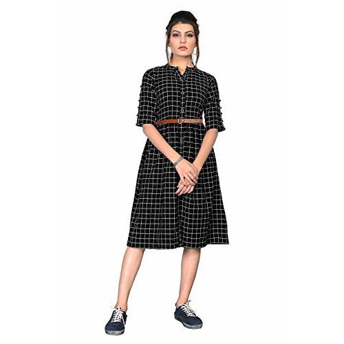 ORLIN Black Pure Cotton Long one Piece Dress