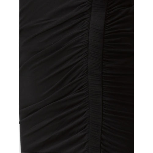 FOREVER 21 Women Black Solid Pencil Skirt