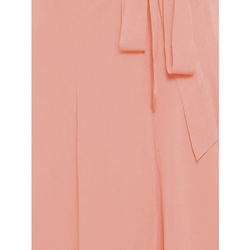 Martini Women Pink Solid Flared Skirt