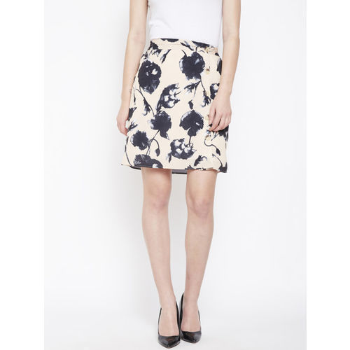 Oxolloxo Off-White Straight Party Skirt