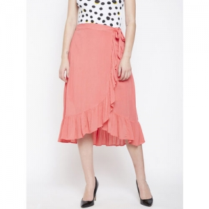 Oxolloxo Pink Solid Frill Skirt