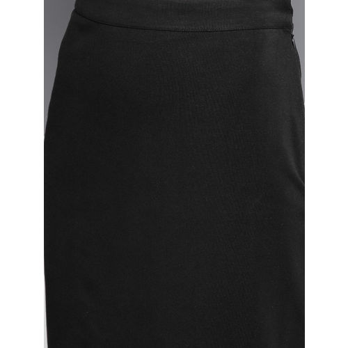 Besiva Women Black Solid Pencil Skirt