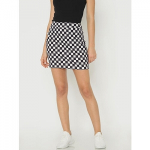 ONLY Black & White Checked Pencil Skirt