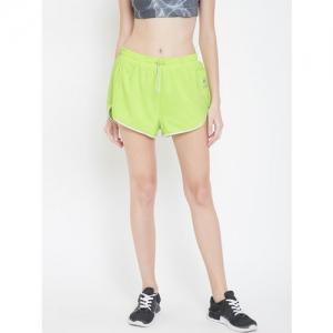Reebok Classic Women Fluorescent Green GP Sports Shorts