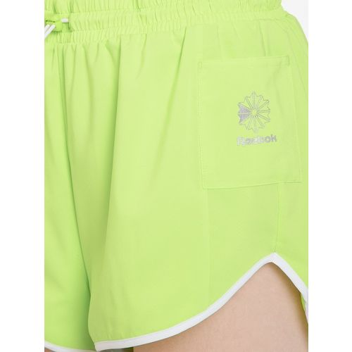 Reebok Classic Women Fluorescent Green GP Sports Shorts