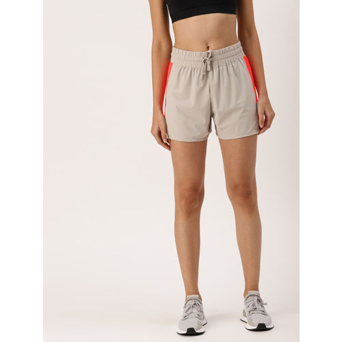 DressBerry Women Grey and Pink Solid Sports Shorts