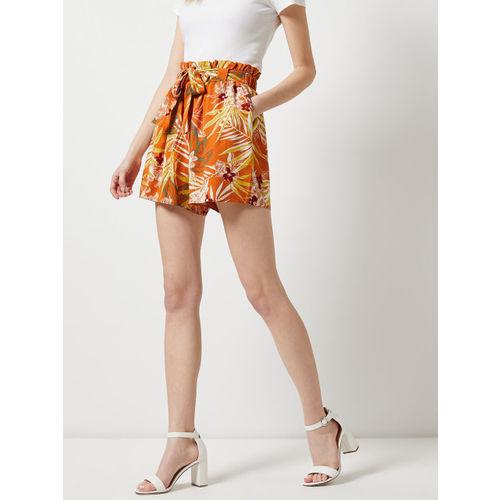 DOROTHY PERKINS Women Orange & Yellow Printed Shorts