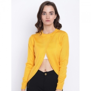 Cayman Yellow Woollen Women Cardigan