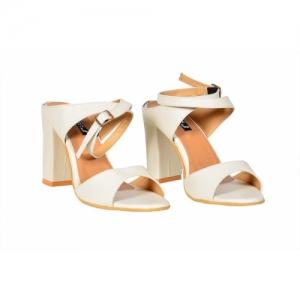 D.TOX Women White Heels
