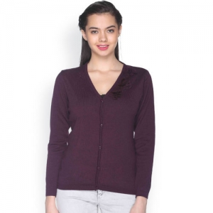 Club York Purple Cardigan