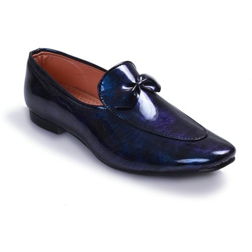 Swanwood Colorfull patent loafer Loafers For Men(Blue, Black)