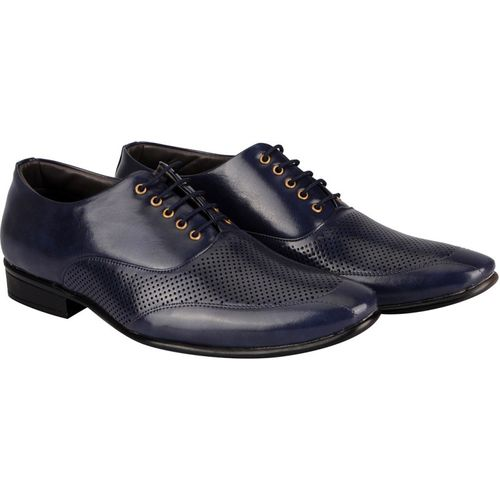 FAUSTO Corporate Lace Up For Men(Blue)