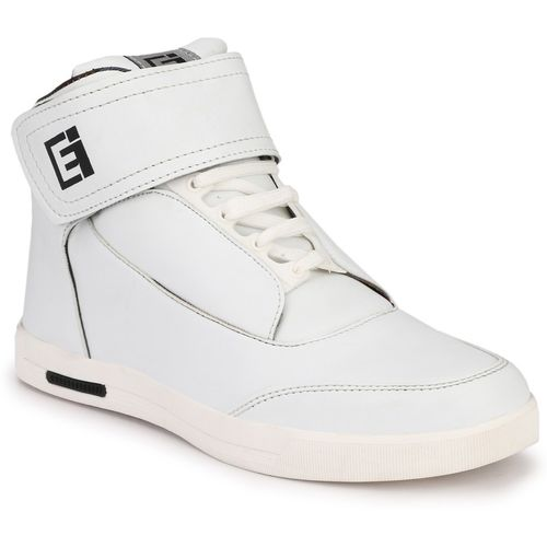 Eego Italy Ankle Length Sneakers For Men(White)