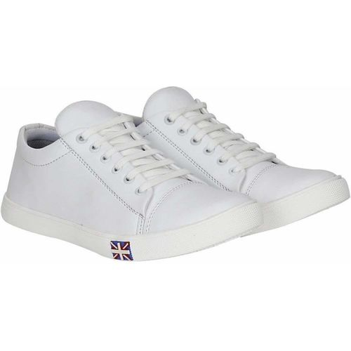 Pixofeet Casual trendy sneakers Sneakers For Men(White)